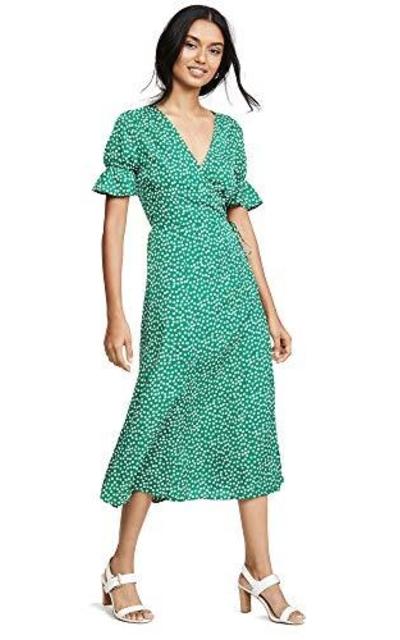 re:named Drew Polka Dot Wrap Dress,