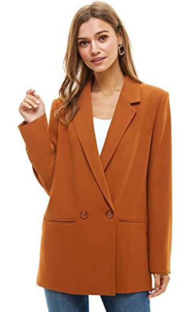 Alexander + David  Loose Blazer Jacket