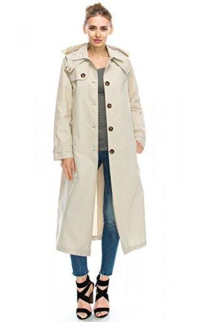 JEZEEL Long Trench Coat