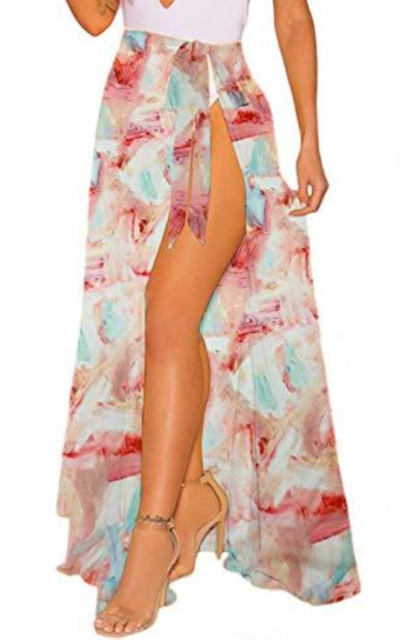 CARDYDONY tie Dye Sarong Cover Up
