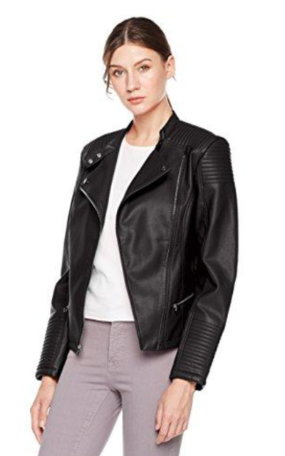 Otterline Slim-Fit Vegan Moto Jacket