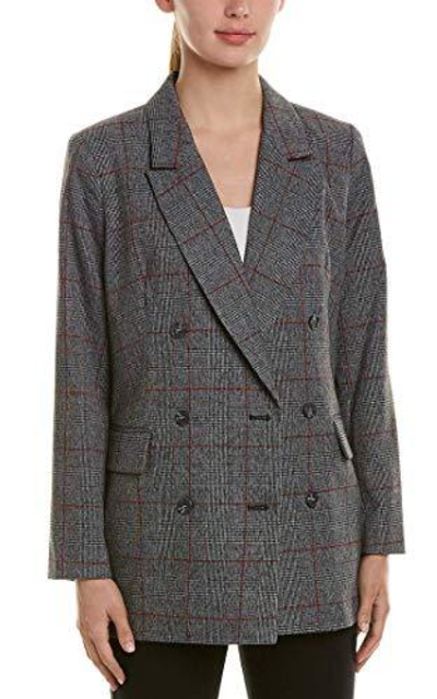 CeCe Menswear Plaid Oversized Blazer