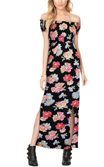 Boho Smocked Maxi Long Dress