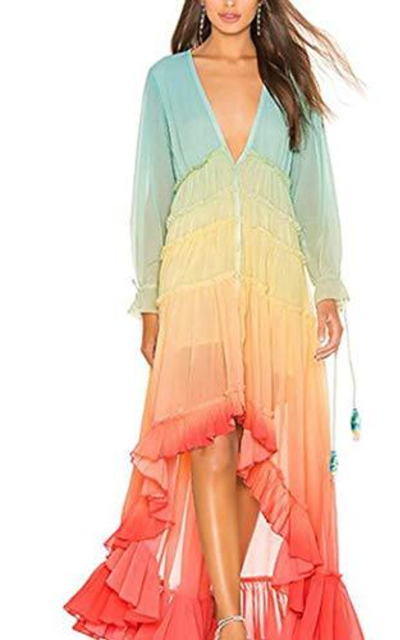 watersouprty Rainbow Maxi Dress