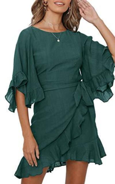 Berryou Bell Sleeve Mini Dress