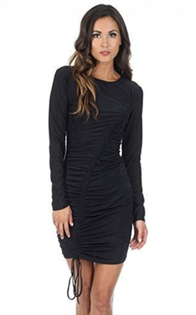 AX Paris Long Sleeved Ruched Dress