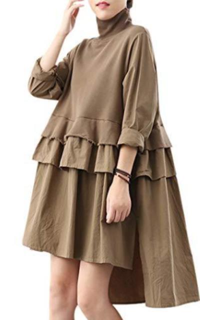 YENSO Peplum Waist Dress