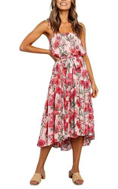 Sundress Floral Swing Midi Dress