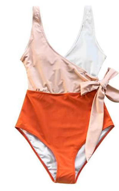 CUPSHE Colorblock One Piece Swimsuit