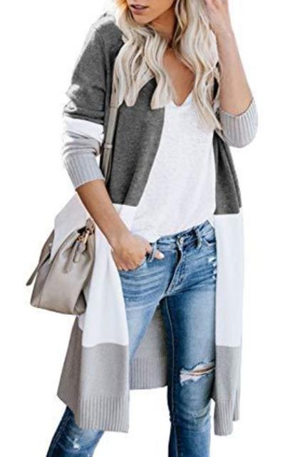 Lovaru  Colorblock Knit Sweater Cardigan