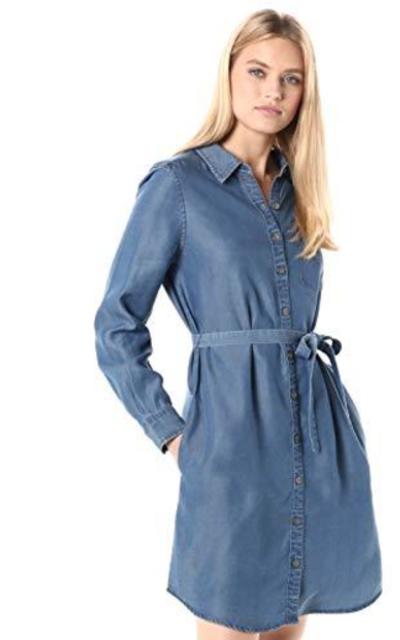 Amazon Brand - Daily Ritual Tencel  Shirt Dress