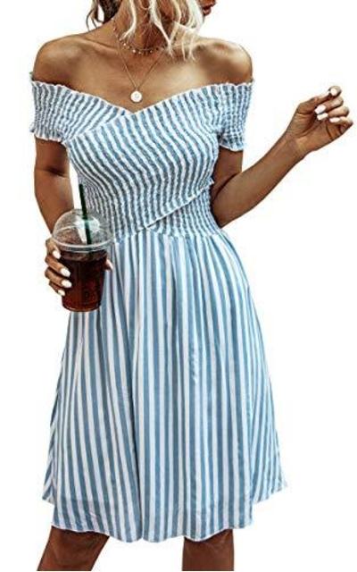 ECOWISH Striped Dress