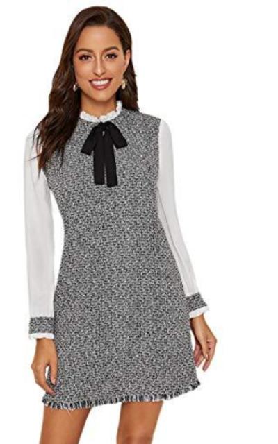 MAKEMECHIC Tweed Tunic Dress