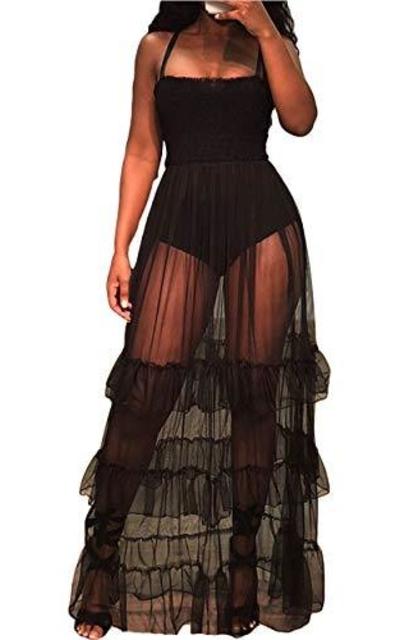 Mintsnow Mesh Maxi Dress