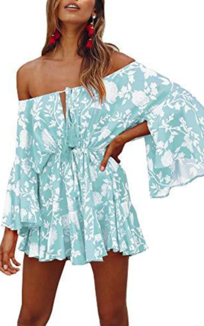 Bigyonger Off Shoulder Dress