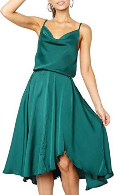 Merryfun Satin Slip Camisole Dress
