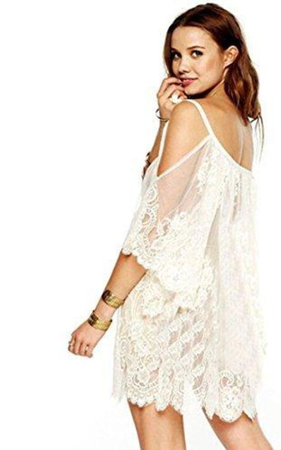 Lace Crochet Mini Dress