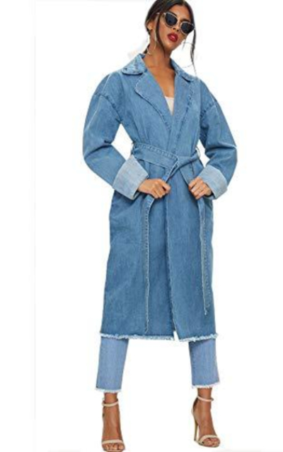 just quella Denim Trench Coat