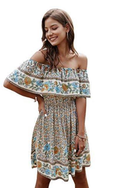 Comeon Off Shoulder Ruffle Dress