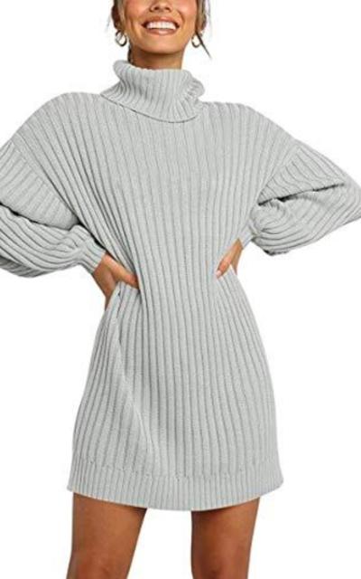SAOVERE Turtleneck Sweater Dress