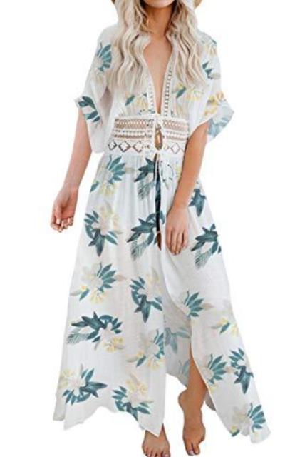 FANCYINN Chiffon Kimono Sheer Cover Up