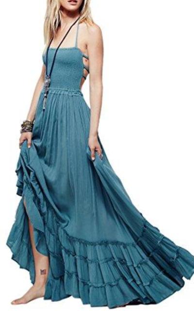 R.Vivimos Blackless Long Dress