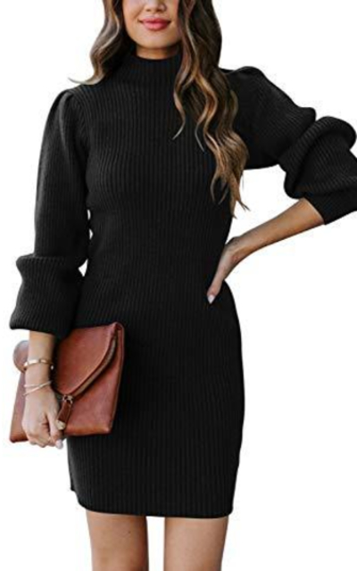 ANRABESS Turtleneck Sweater Dress
