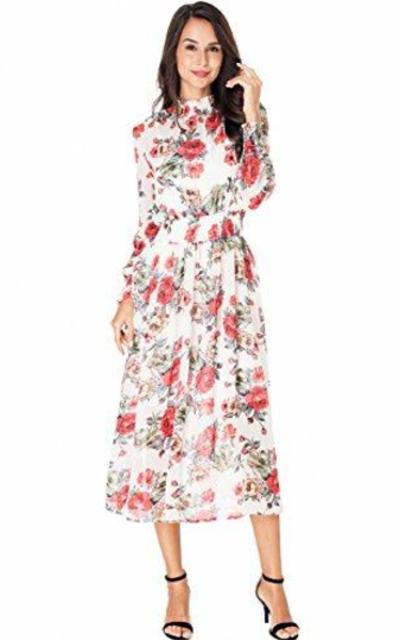 PYL Floral Midi Dress