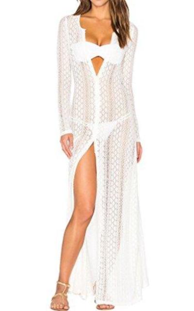 Ayliss Long Kimono Cardigan Swimsuit Cover Up