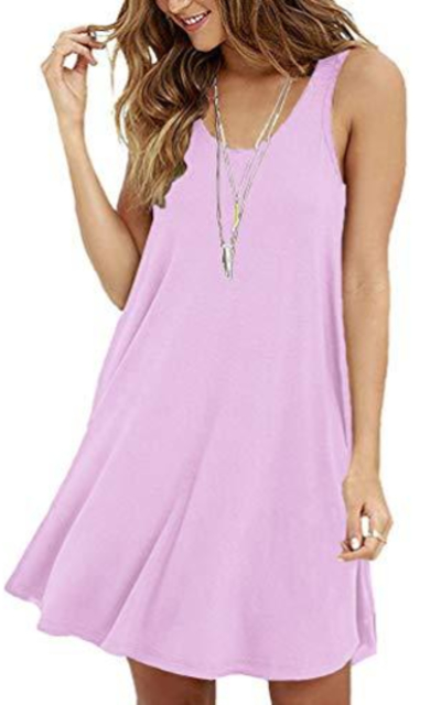 VIISHOW Swing Simple T-Shirt Dress
