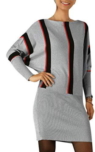 BerryGo Color Block Bodycon Sweater Dress