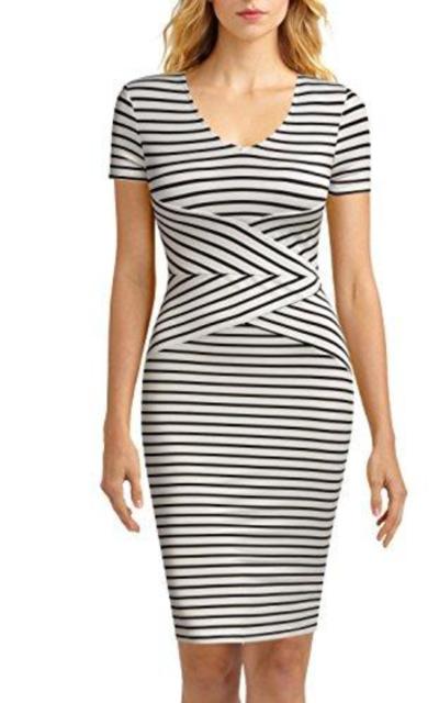 Mmondschein  Striped Pencil Dress