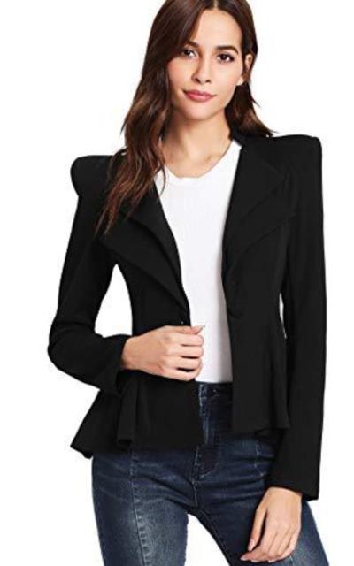 SheIn Peplum Blazer Jacket