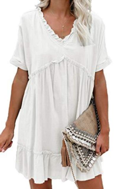 Tobrief Babydoll Tunic Swing Mini Dress