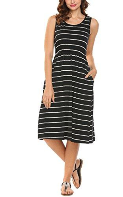 Hount Midi Dress with Pockets