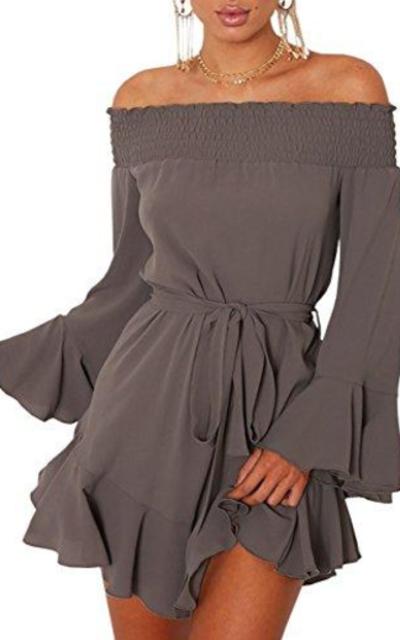 DUBACH Off Shoulder Dress