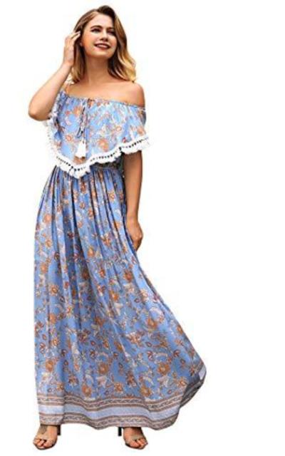 Milumia Off Shoulder Maxi Dress