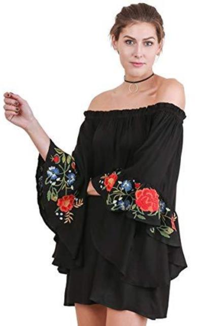 Umgee Off Shoulder Mini Dress