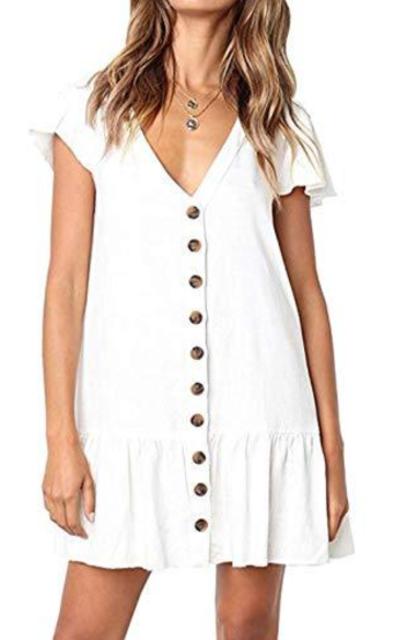 DRIBET Mini Short Dress