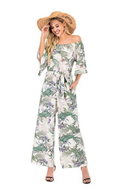 Floral Off Shoulder Jumpsuit