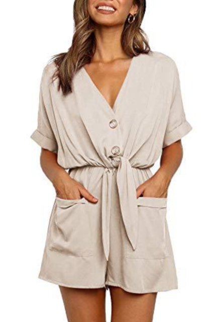 Ivay Knot Tie Playsuit