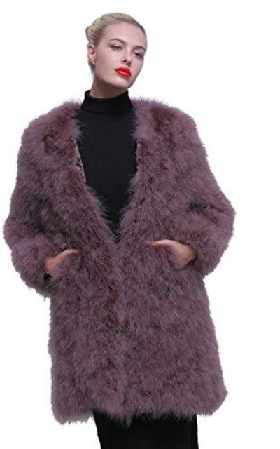 URSFUR Ostrich Feather Coat