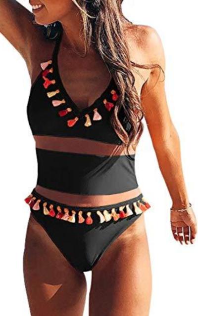 EVALESS Mesh One-Piece Swimwear