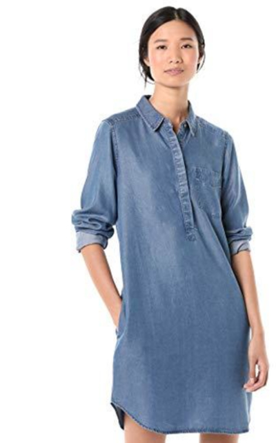 Amazon Brand - Goodthreads Tencel Popover Shirt Dress