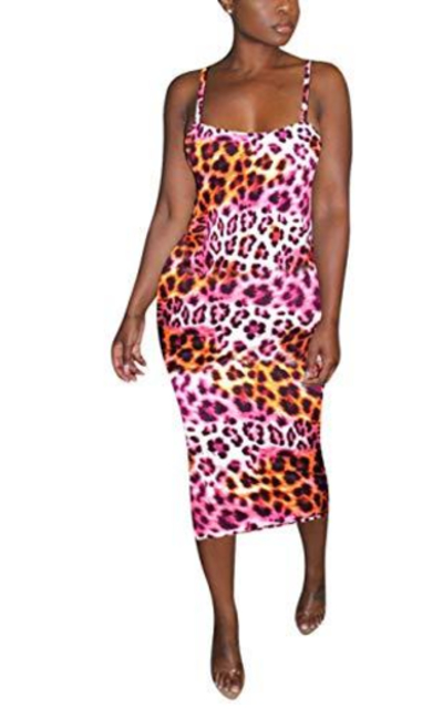 Rela Bota Leopard Print Dress
