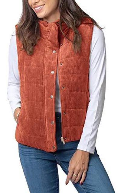 Foshow  Corduroy Vest