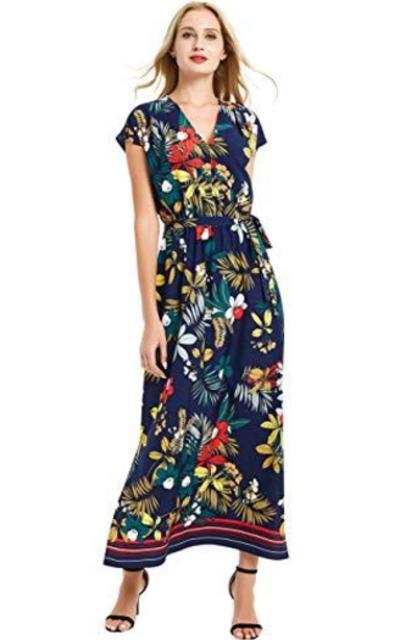 Basic Model Floral Dress