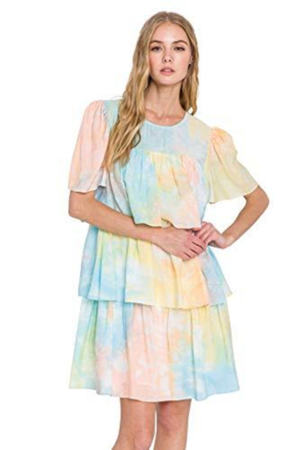 English Factory Tie-Dye Mini Dress