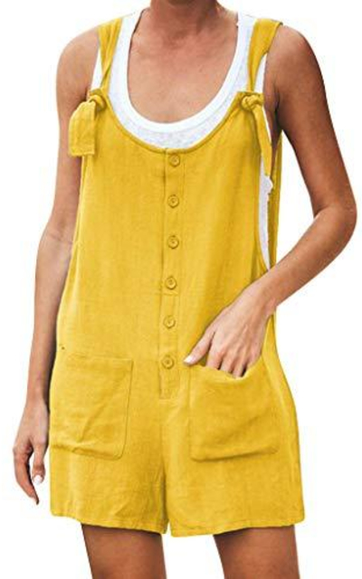 Adeliber Button Pocket Overalls