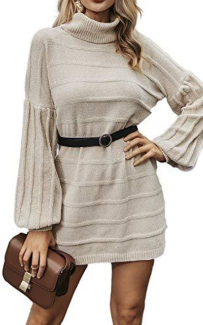 Simplee Turtleneck Sweater Dress